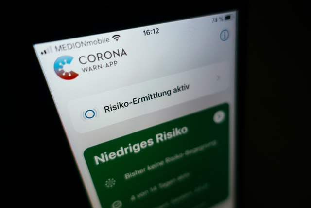 Screenshot der Corona Warn-App